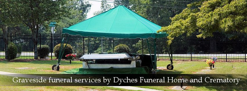 Graveside funeral services by Dyches Funeral Home
